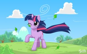Twilight Sparkle in the Wind by mysticalpha