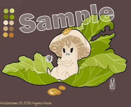 Mushrooms_SAMPLE by Mymie-chan