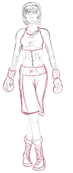Veronica Eagle: Boxing Attire Sketch by Mechassault-Man