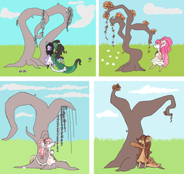 April Time Trees by CylaDavenport