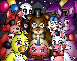 FNAF One-Year Anniversary by hotcheeto89