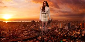 Sophie Turner - Sunset in the city by Natkatsz