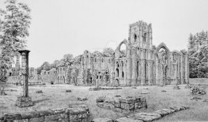 Fountains Abbey from South East by RJLogan