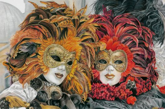 Venice masks by slightlymadart