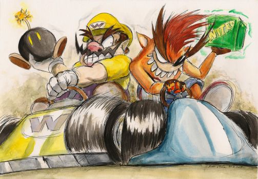 CTR vs. Mario Kart 4 by SoulEaterSaku90