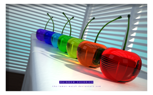 3D Glass Cherries - Full Color by THE-LEMON-WATCH