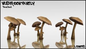 [MMD DL] MUSHROOMS FAMILY (Download) by LGMODS