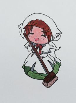 Chibi Italy - Hetalia Fan Art  by Surdy12321