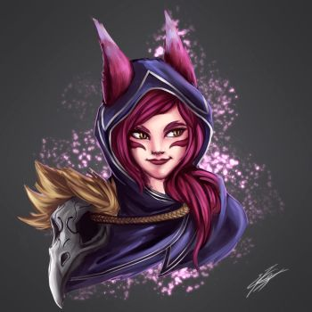 Xayah fan art by Strauss95