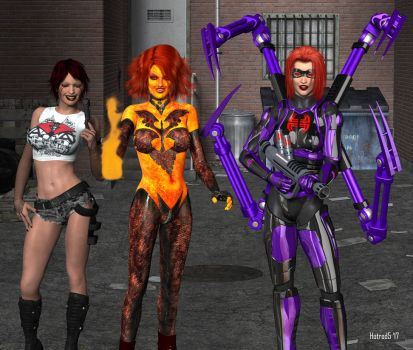 The Real Redhead Trio by hotrod5