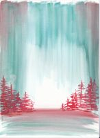 Red forest by HedgehogMolly