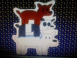 Grizz, Panda and Ice Bear in Kid Pix by SmashGamer16