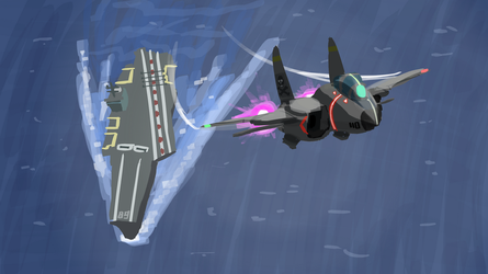 Carrier flyby by Malnu123