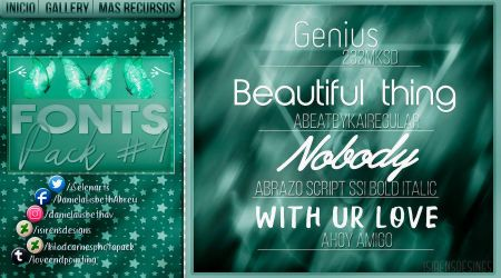 ~.Pack de fonts #4 by ISirensDesigns
