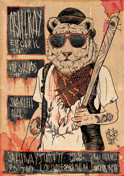 ASHTRAY ELECTRIC GIG POSTER by certainisnot