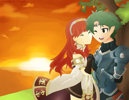 Celica and Alm by LizzIkanaka