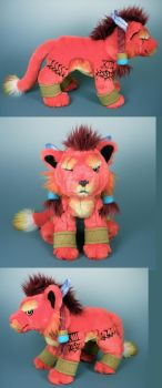 Red XIII Floppy Plush by WhittyKitty