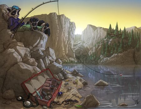 Mountain Fishing by Dreamkeepers
