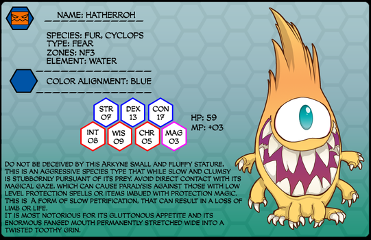 Monster of the week 022 Hatherroh by SolomonMars
