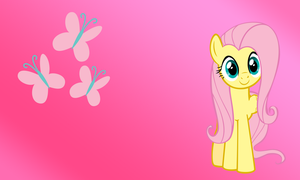 Simple Fluttershy wallpaper by Apoljak