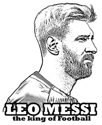 Lionel Messi coloring page by Topcoloringpages