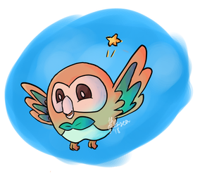 Rowlet by ThePeaSea