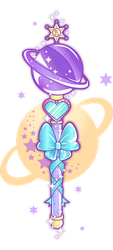 Sailor Saturn's Wand by WhippedCreamCake