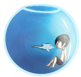 31 Day Challenge - Day 18 Haru's Fishbowl by bluebuterflyef