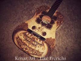 Guitar Pyrography by KenazArt
