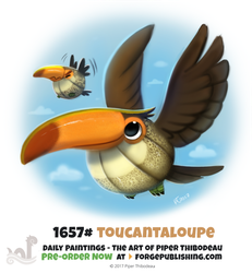 Daily Painting 1657# - Toucantaloupe by Cryptid-Creations