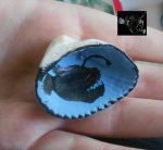 Angler Fish Hand Painted Sea Shell Pendant by EdgeofFear