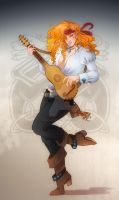 Comm: Guitarist by SicilianValkyrie