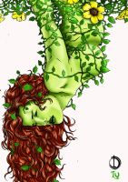 Poison Ivy color by santiagocomics