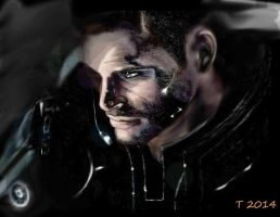 Commander Shepard by Candlelight by ToniMariaAli