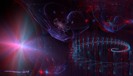In constellation of Cygnus (for =skyzyk) Anaglyph by Osipenkov