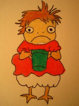 ponyo standing by maggie14and1