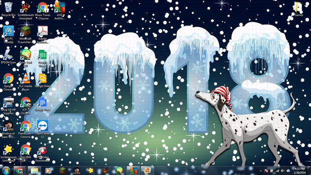 Windows 7 Desktop: 2018 The Year of the Dog by jcpag2010
