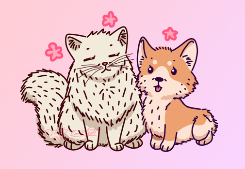 Fluffy Babies For Choko [Art Trade] by Poptart2Belinda