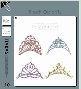 Object Pack - Tiaras by MouritsaDA-Stock