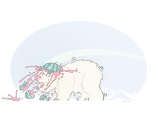 Polar Bear And Watermelon 08132013 by Mendicant