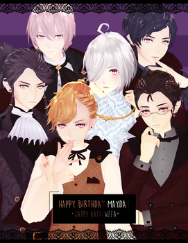 DL: Tda Vampire Vocas [HBD MAY + bonus halloween] by Jjinomu