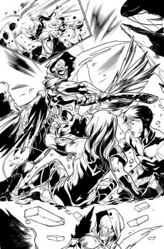 Teen Titans 09 Page 13 Inks by JPMayer