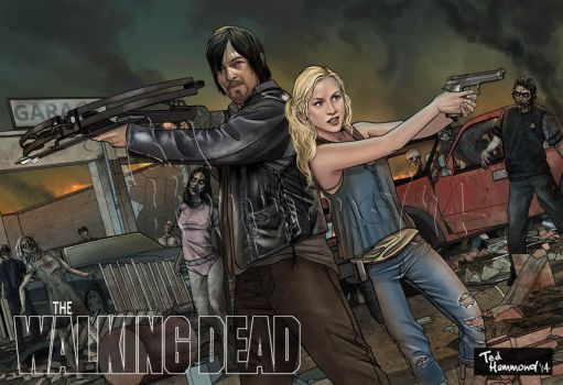Daryl and Beth-Walking Dead by ted1air