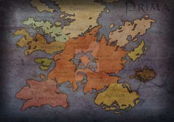 Afterlife: Map of Prima (The Golden Age) by Kyle-A-McDonald