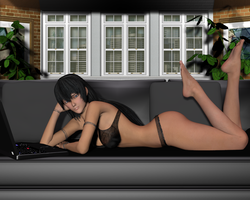 Rosarita On My Couch by Dangerboy3D