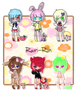 Adopt Set 3: AUCTION  CLOSED. by Gemini-Adopts