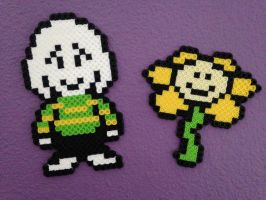 Asriel and Flowey Overworld Sprites by MrsEveTwo