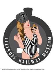 Elena Marchal Illinois Railway Museum Pinup Logo by Samoht-Lion
