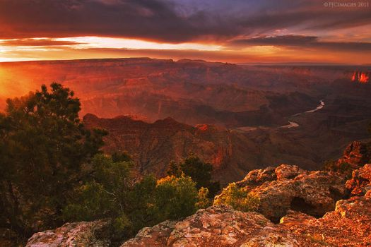 Red wave over the canyon by PeterJCoskun