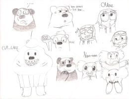 We Bare Bears, Humans, And Koalas by Ask-The-Bare-Bears